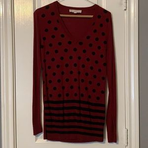 Long black/red sweater